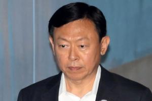 [포토] 신동빈 롯데그룹 회장, 항소심 첫 공판 출석