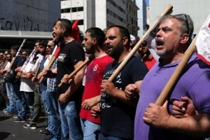 """""""긴축 조치 반대"""" 그리스 항의 시위·총파업"""