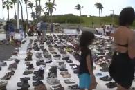 """""""죽었다고 말해줘""""…푸에르토리코 의회 앞에 놓인 신…"""
