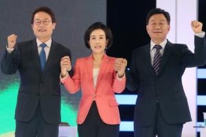 [포토] 화이팅 외치는 조희연-박선영-조영달 서율시교육감 후보