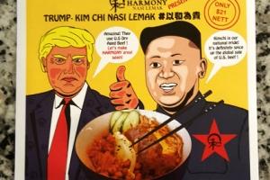 [포토] 싱가포르, 북미정상회담 김치소고기밥 판매