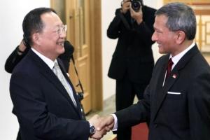 싱가포르 외무장관, 평양에서 실무 협의 후 베이징 도착