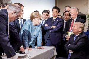 """G7정상 """"보호주의·관세장벽 배격"""" 성명…트럼프 """"승인 안해"""""""