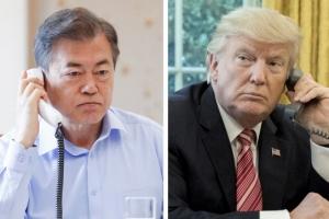문 대통령, 트럼프와 통화…북미회담 전망 '맑음'