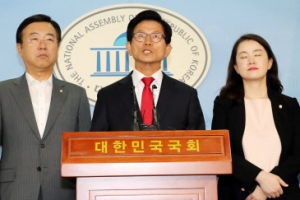 [포토] 김문수 후보, 박원순 후보 고발 기자회견