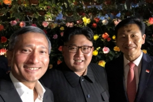김정은, 싱가포르 명소 곳곳 방문 …셀카도 '찰칵'
