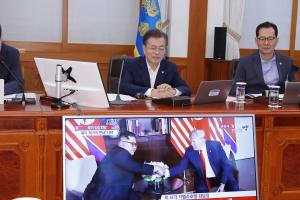 문재인 대통령도 북미정상회담 지켜봤다