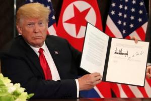 """트럼프 """"북미협상 진행되는 한 한미연합훈련 않을 것"""" 재확인"""