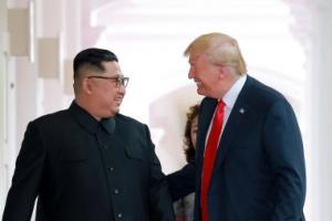 """북 매체 """"트럼프, 한미연합훈련 중단 의향"""" 비중 있게 보도"""