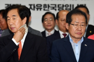 """""""여론조사 왜곡"""" 주장하던 홍준표·자유한국당 '머쓱'"""