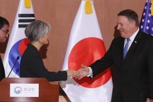 """폼페이오 한미회담서 """"김정은, 비핵화 빨리하고 싶어한다"""""""