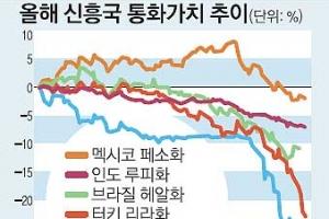 직격탄 맞은 신흥국… '6월 위기설' 현실화되나