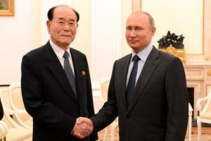 김영남, 러시아 월드컵 개막식 참석…푸틴과 면담