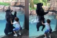 폴짝폴짝 뛰는 아이와 곰