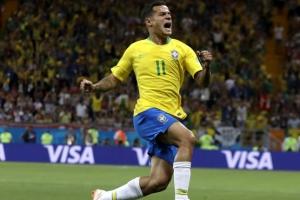 [포토] 러시아 월드컵, 브라질 첫 골의 주인공은 필리페 쿠티뉴