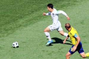 [월드컵] 한국, 스웨덴전 전반 0-0…슈팅 1개·박주호 부상교체