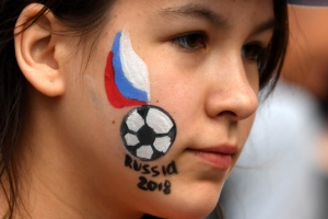 [포토] 청순 미모 뽐내는 러시아 응원단