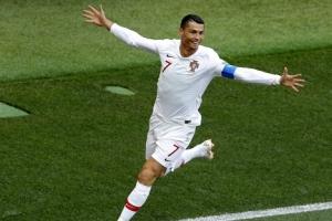 [포토] '러시아 월드컵' 포르투갈 vs 모로코…호날두, 선제골 기쁨의 세리머니