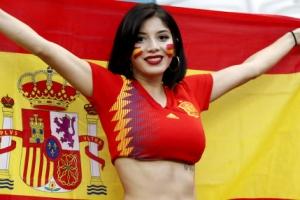 [포토] 여성 축구팬의 스페인 사랑