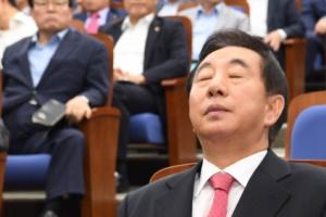계파갈등·'김성태 사퇴' 격론… 5시간 싸우다 끝난 한국당 의총