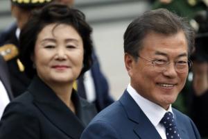 [포토] 방러 첫날, 미소짓는 문재인 대통령과 김정숙 여사