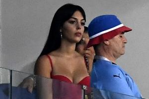 [포토] '러시아 월드컵' 패배의 순간 지켜보는 호날두 여자친구