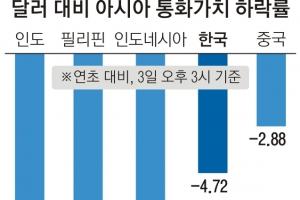 무역전쟁·유가 상승에 亞통화 '휘청'