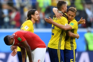 -월드컵- 스웨덴, 스위스 꺾고 24년 만에 8강 진출