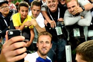 [포토] 잉글랜드 vs 콜롬비아…해리 케인 '승리 기념샷'