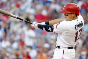 [포토] 추신수, 이치로 넘어서다… MLB 아시아 최다 44 연속 출루