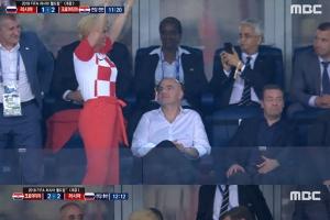 자국팀 월드컵 4강 진출보다 더 주목 받는 크로아티아 대통령