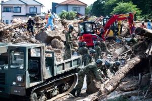 [포토] '쓰레기도 기록적'…일본 폭우가 몰고와