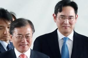 文대통령, 예정없던 이재용 부회장과 '깜짝' 만남 성사 배경
