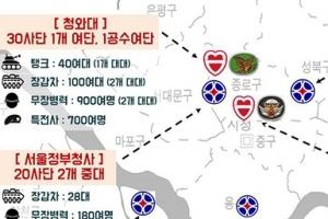 서울에 탱크 200대·장갑차 550대···'전쟁 준비'했나