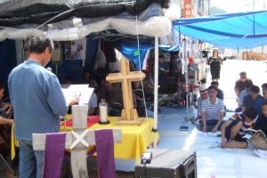 '철거 위기' 강남향린교회… 천막 예배 100일, 끝나지 않은 갈등