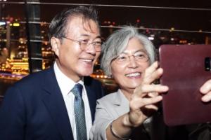 [포토인사이트]  마리나 베인 샌즈 전망대 방문한 문 대통령 내외