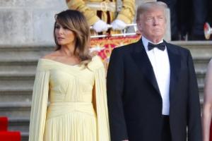 [포토] 턱시도 입은 트럼프 대통령…드레스 입은 멜라니아 여사