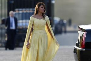 [포토] 멜라니아 트럼프, 우아한 드레스 자태