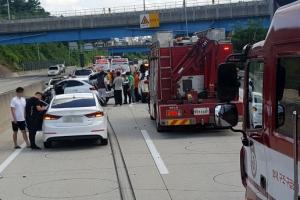 [포토] '고속도로서 7중 추돌사고'