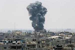 이스라엘 가자지구 대규모 공습…팔레스타인인 10대 2명 사망