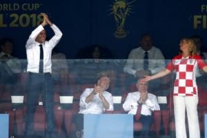 [포토] 프랑스-크로아티아, 우승의 순간 엇갈린 두 대통령의 표정