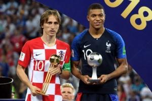[포토] 러시아 월드컵, '골든볼' 모드리치…'영플레이어' 음바페