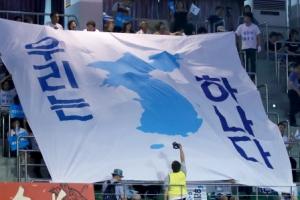 [포토] '우리는 하나' 대전통일응원단