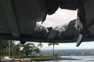 하와이 킬라우에아 화산 분출, 용암 유람선 떨어져 23명 부상