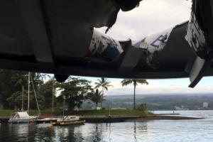 하와이 관광보트에 '용암폭탄'… 관광객 23명 부상