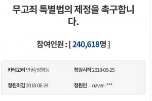 """'무고죄특별법' 청원에 청와대 """"악의적 무고, 처벌 강화하겠다"""""""