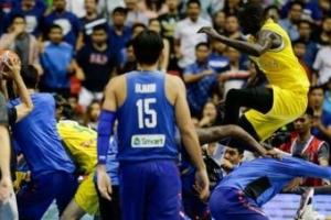 최악의 난투극 호주와 필리핀 농구 13명에 44경기 출전 정지