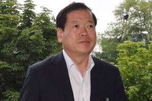 [서울포토] '계엄령 문건 작성' 소환된 소강원 참모장