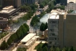 [포토] 주중 미국대사관 부근서 폭발 의심 사고 발생