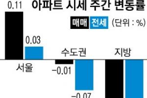 아파트값 극과 극…서울 '쑥' 지방 '뚝'